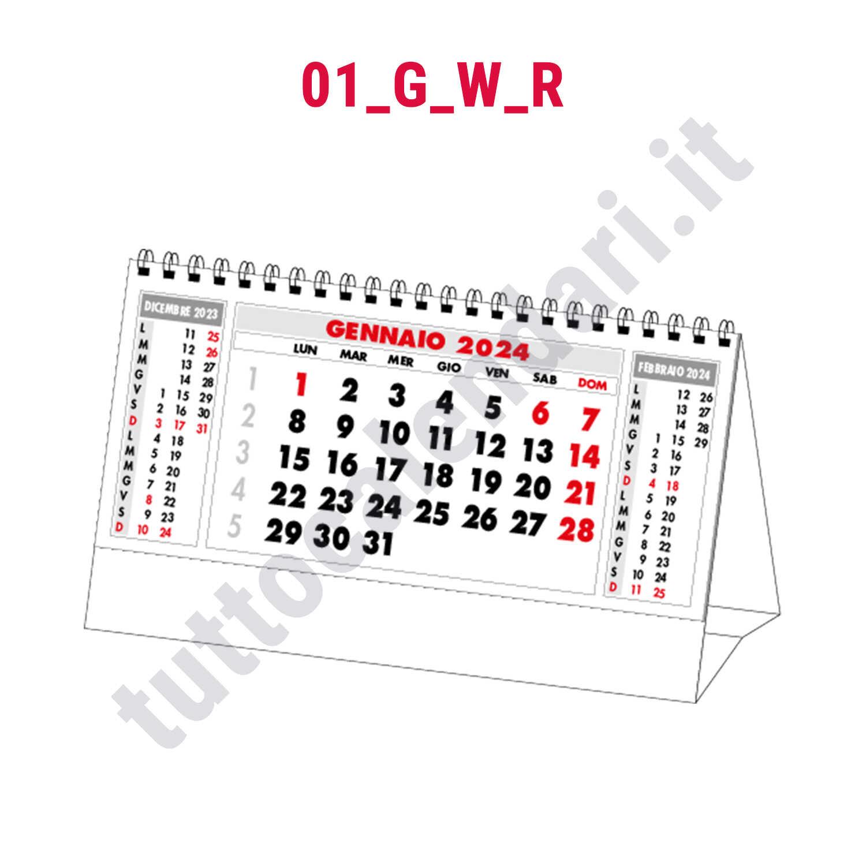 Calendario commerciale da tavolo con cavallotto personalizzato serie 01 g w tutto calendari 2019 - Calendari da tavolo con foto ...